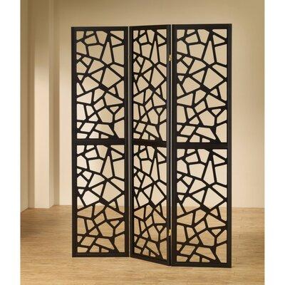 Aldarondo Intricate Mosaic 3 Panel Room Divider