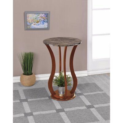 Kranzo Wooden Plant Stand with Marble Top