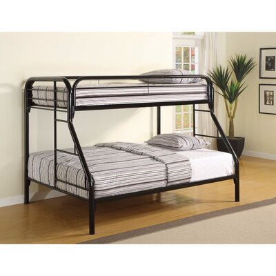 Jenning Classic Twin Over Full Bunk Bed Bed Frame Color: Black