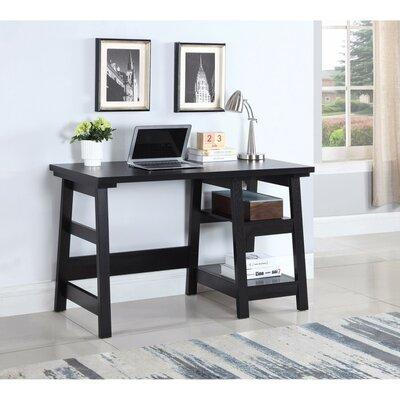 Keil Well Designed Wooden Desk Color: Black