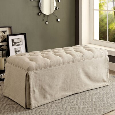 Eleanora Transitional Accent Bench Upholstery: Beige