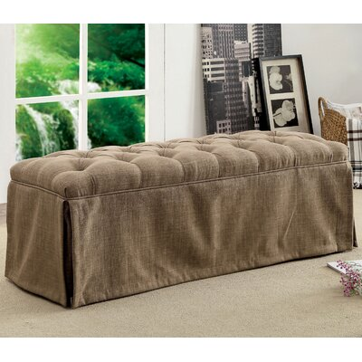 Eleanora Transitional Accent Bench Upholstery: Brown