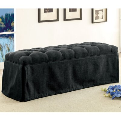 Eleanora Transitional Accent Bench Upholstery: Dark Gray