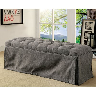 Eleanora Transitional Accent Bench Upholstery: Gray