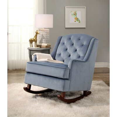 Abella Rocking Chair Upholstery: Light Blue