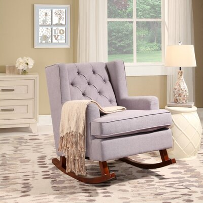 Abree Rocking Chair Upholstery: Gray