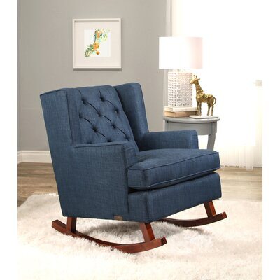 Abree Rocking Chair Upholstery: Navy Blue