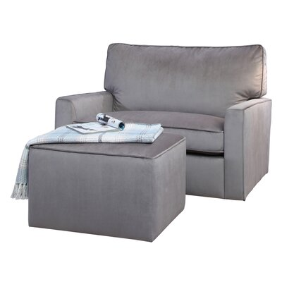 Craner Oversized Glider Chair and Ottoman
