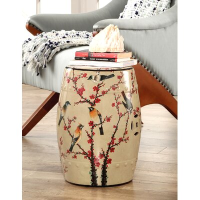 Critchfield Garden Stool Color: Beige