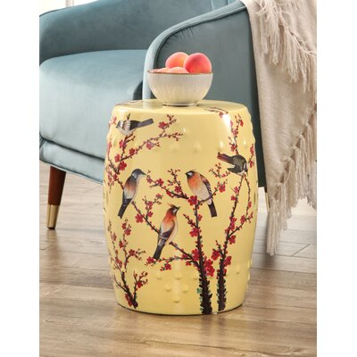 Criss Hand Painted Birds Garden Stool