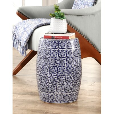 Cristobal Hand Painted Tile Garden Stool