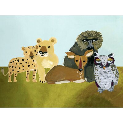 """Cullum Group of Animal Friends by Augustwren Size: 17"""" H x 21"""" W x 0.02"""" D, Product Type: Paper Print"""