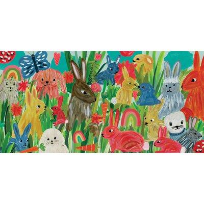 "Culberson Bunny Soiree by Terri Fry Kasuba Stretched Canvas Art Size: 15"" H x 30"" W"