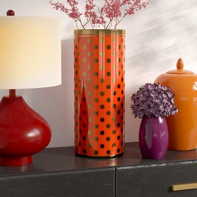 Freestanding Ceramic Umbrella Stand Finish: Orange