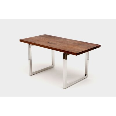 "Gax Writing Desk Size: 30"" H x 48"" W x 24"" D, Color: Stainless Steel"