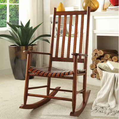 Boughton Oak Rocking Chair Color: Brown