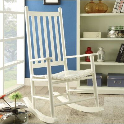 Boughton Oak Rocking Chair Color: White