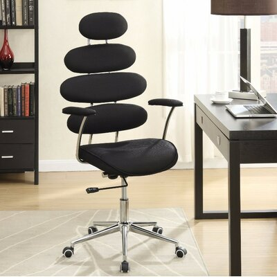 Crothers Office Chair Color: Black
