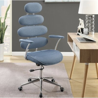 Crothers Office Chair Color: Blue