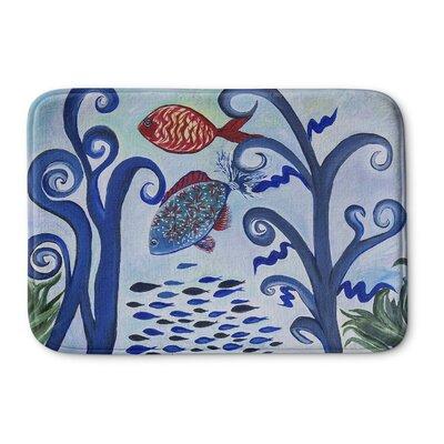"""Burkart Fancy Fish Reef Memory Foam Bath Rug Size: 24"""" W x 36"""" L"""