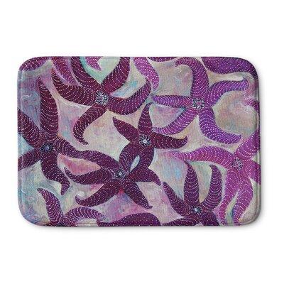 "Burkey Starfish Dance Memory Foam Bath Rug Size: 17"" W x 24"" L"