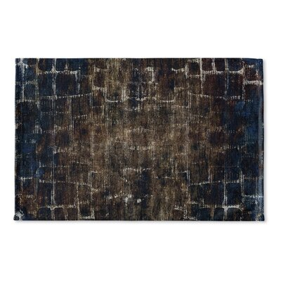 Eckhart Flat Weave Bath Rug Color: Blue/Brown