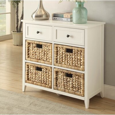 Bouley 6 Drawer Accent Chest Color: White