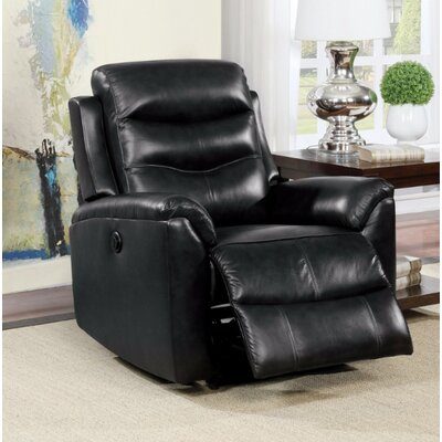 Wolters Power Recliner Upholstery Color: Black