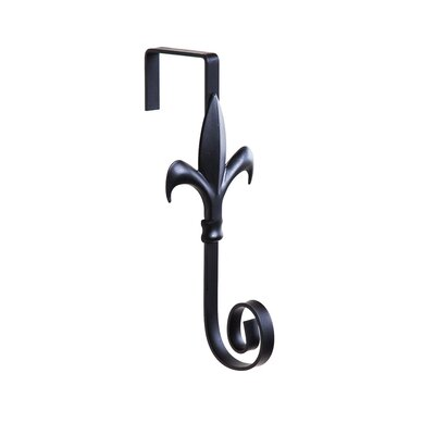 Ceron Fleur De Lis Flag Door Holder Wall Hook