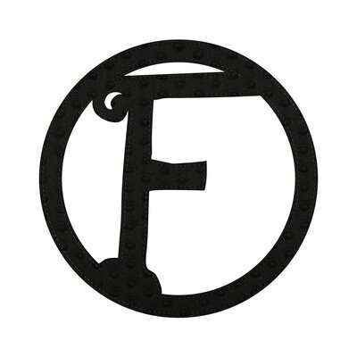 Musman Patch-on Embossed Felt Wall Letter Letter: F