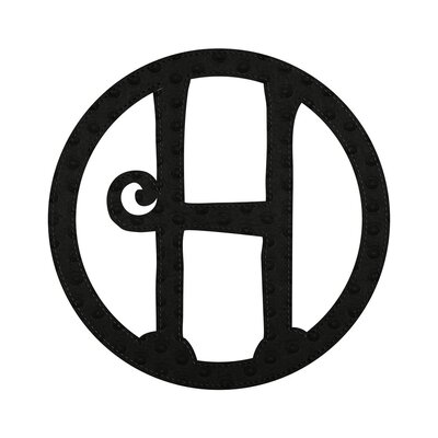 Musman Patch-on Embossed Felt Wall Letter Letter: H