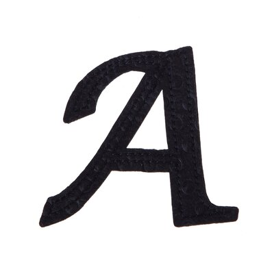 Musman Pin-on Embossed Felt Wall Letters Letter: A