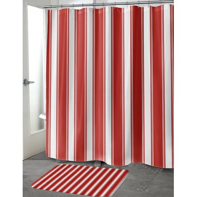 "Grenville Stripes Shower Curtain Size: 70"" H x 90"" W"