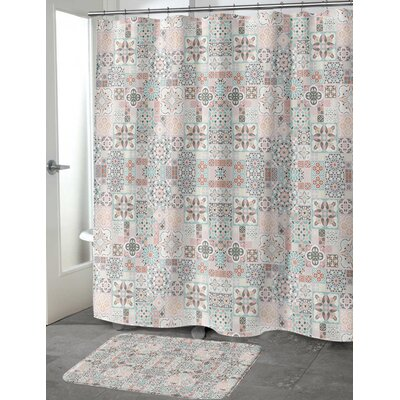 """Chrisman Tiles with Rose Gold Shower Curtain Size: 70"""" H x 72"""" W"""