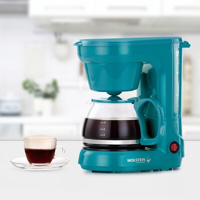 3-Cup Coffee Maker Color: Teal