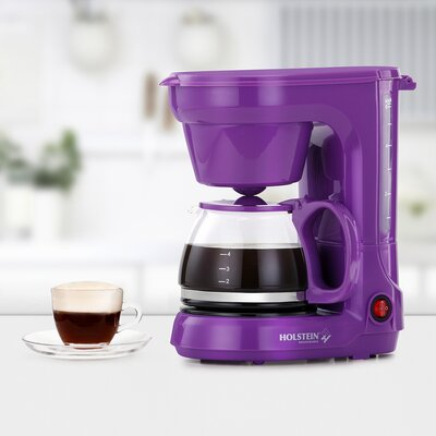 3-Cup Coffee Maker Color: Purple