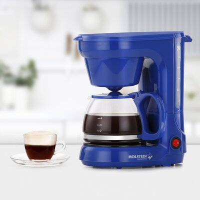 3-Cup Coffee Maker Color: Blue