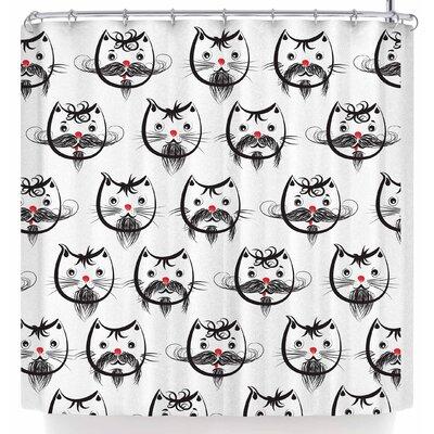 Maria Bazarova Bearded Cats Shower Curtain