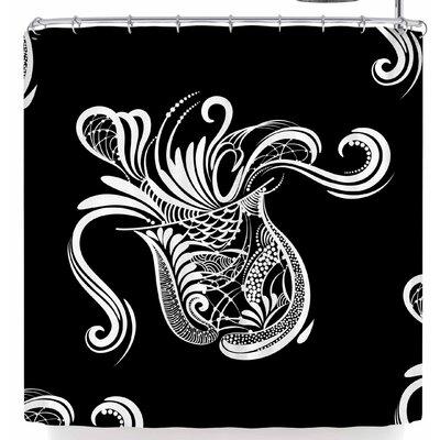 Maria Bazarova Aquarius Horoscope Sign Shower Curtain