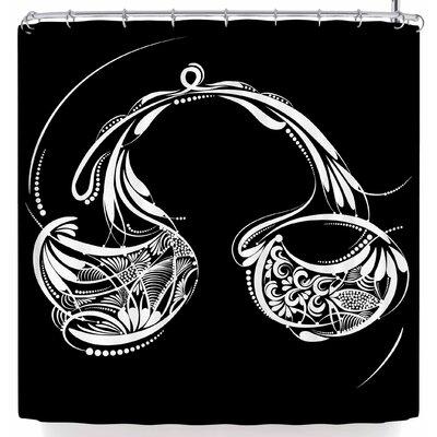 Maria Bazarova Libra Horoscope Sign Shower Curtain