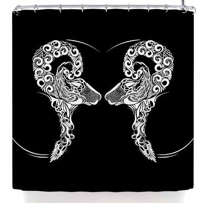 Maria Bazarova Horoscope Sign Aries Shower Curtain