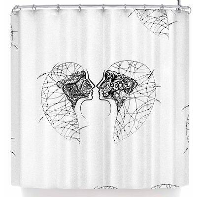 Maria Bazarova Twins Minimalism Shower Curtain