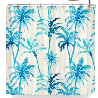 Mmartabc Tropical Watercolor Palm Trees Shower Curtain