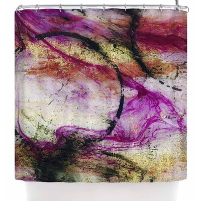 Malia Shields Abstracted Circles Series 3/3 Shower Curtain