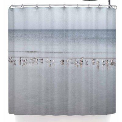 Mary Carol Fitzgerald Shoreline Seagulls Shower Curtain
