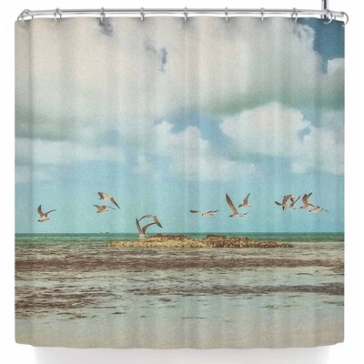 Mary Carol Fitzgerald Free To Fly Seagulls Shower Curtain