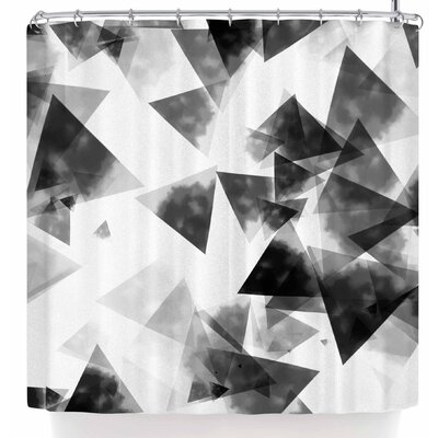 Monica Martinez Inky Triangles Shower Curtain