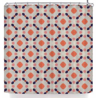Monica Martinez Vintage Dots Shower Curtain