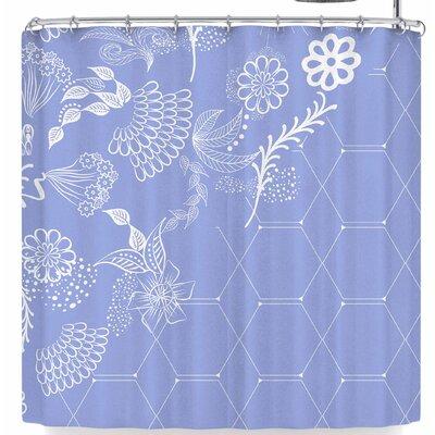Famenxt Flora Summer Polygon Shower Curtain