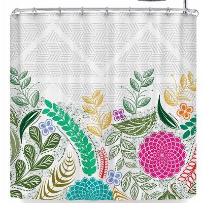 Famenxt Floral Geometric Shower Curtain